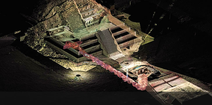 Liquid mercury found under Mexican pyramid could lead to king's tomb