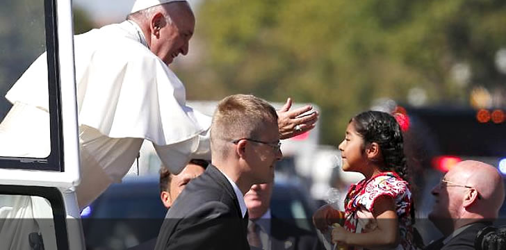Lil Chicana Breaks Through To Hand Pope Letter