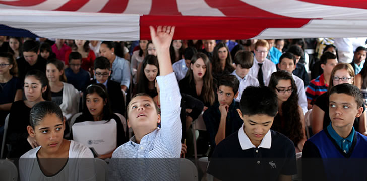 Latino kids obtain U.S. citizenship at pre-4th of July ceremony