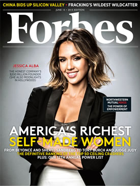 Jessica Alba Tops Forbes America's Richest Self-Made Women's List