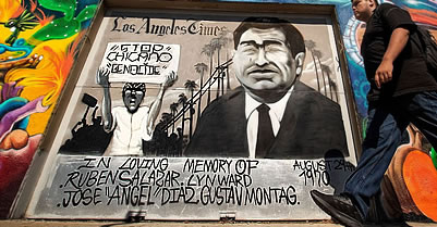 Ruben Salazar memorial mural, East Los Angeles