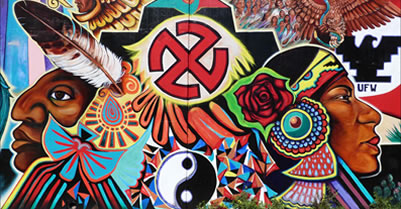 Indigenous Pride Mural at Chicano Park
