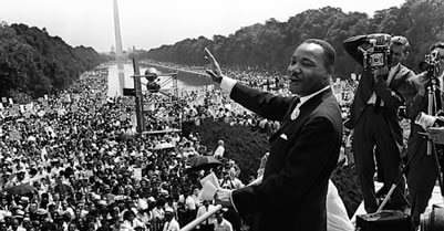 Martin Luther King at March on Washington August 28, 1963