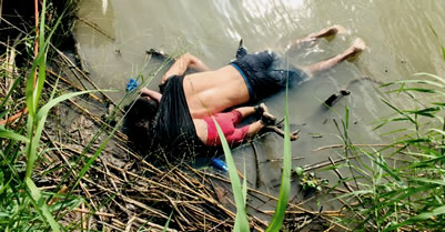 Salvadoran father & daughter drowned at U.S. Mexico border