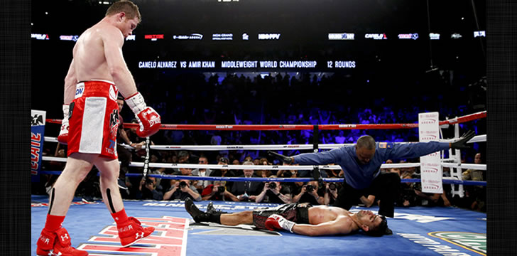 Canelo Alvarez Knocks Out Amir Khan in Sixth Round